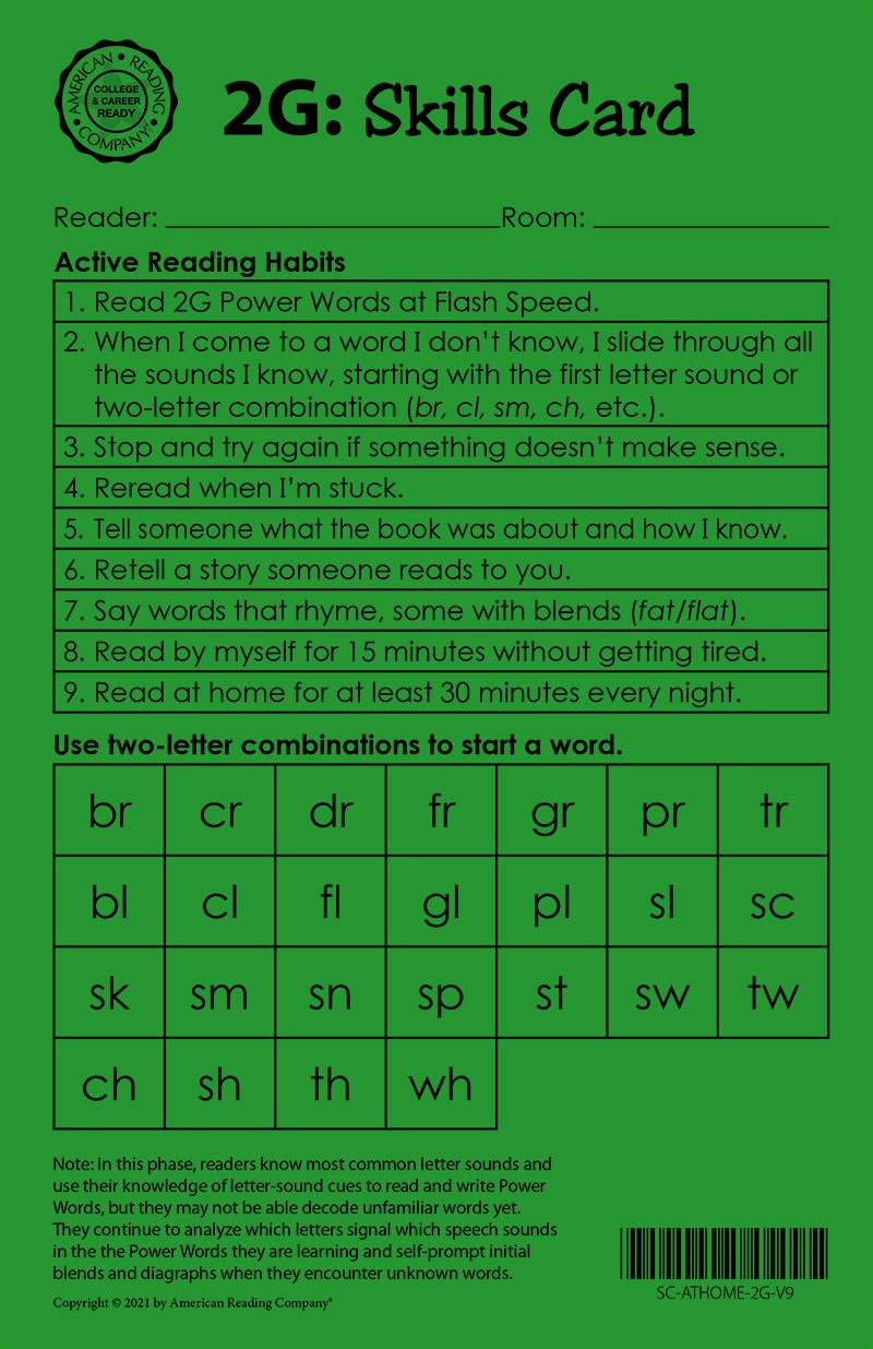 2 green skills card